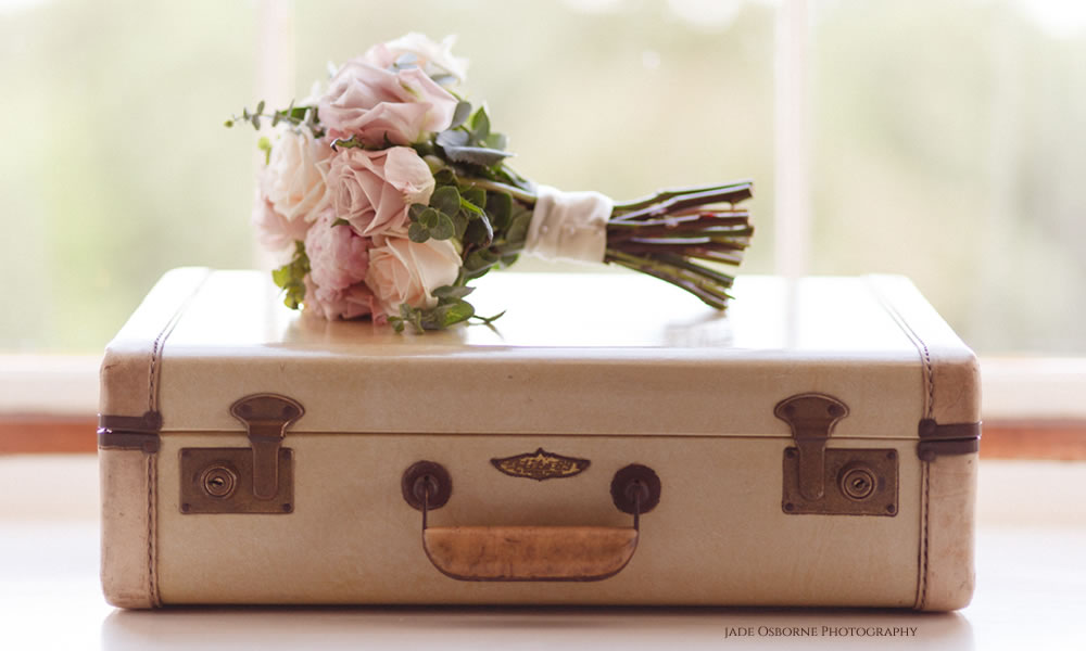 Suit case flowers - Jade Osborne Photography